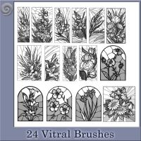 24 Vitral Brushes by Trash63