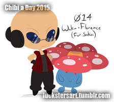 Chibi a Day 2015: 014: Wakin + Florence by Luckster