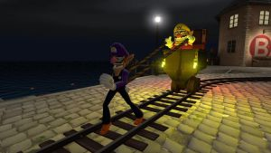 Waluigi the Pullcart by ZeFrenchM