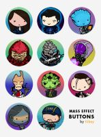 Mass Effect Doodle Buttons by tiikay