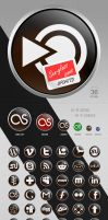 Sunglass Social Media Icons by Solidinkdesign