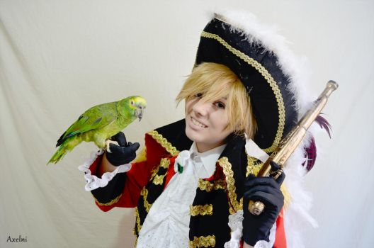 A pirate and his parrot by axelni