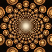 Orange Orbs Tiled Background 4 by Windthin
