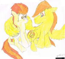 Spitfire and Burning Sun by Yoshi123pegasister