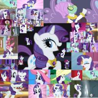 Eddiekitty2008's Gift: Rarity Collage by FuzzyyPanda