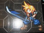 Perler Cloud Final Fantasy 7 by rushtalion