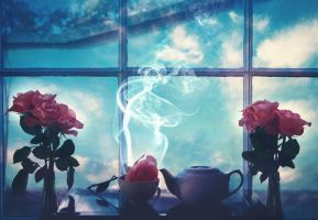 Winter Roses and Jasmine Tea by UntamedUnwanted