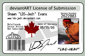 My Deviant License by LDS-Jedi