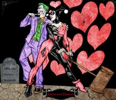 Joker and Harley Batmans Died by jokercrazy