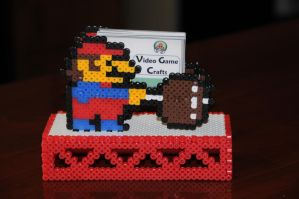 Mario Business Card Holder by 64bitcrafts