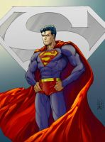 Classic Superman by rhixart