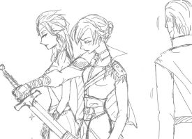 My_knight_Anna_and_Queen_Elsa by MnLvK