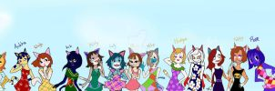 Animal Crossing Cats girls by Tyky64