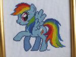Rainbow dash cross stitch by Santian69