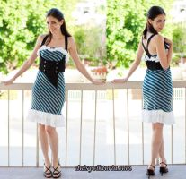 Striped Dress and Vest by DaisyViktoria
