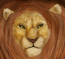 Simba. realistic style. by Speck--Of--Dust