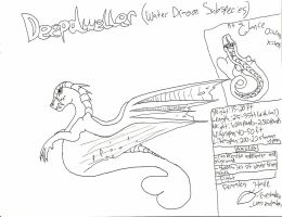 DeepDweller Water Dragon SubBreed Reference by ShadowhawkArt