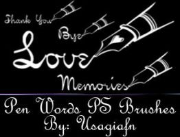 Pen Words PS Brush Set by UsagiAFN