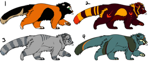 Red Panda Adopts Batch 2 ~CLOSED~ by guardianhawkpool