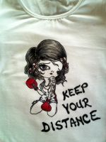 Painted t-shirt Girl Rules by keopsa