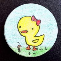 Hand Drawn Buttons - Chicky by gippentarp