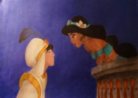 Aladdin and Jasmine by ptitephn