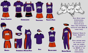 Sports uniforms by SulfuricHabits