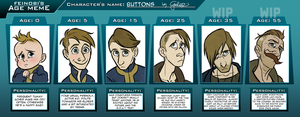Age Meme with Buttons by GalooGameLady