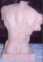 Fired-clay torso 3 by HCMP