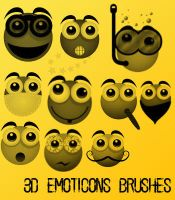 3d Emoticons Brushes by remygraphics