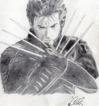 Hugh Jackman as Wolverine by DCompton