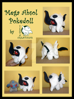 Mega Absol Pokedoll by WolfPink