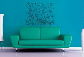 Starry Night Wall Decal by GeekeryMade