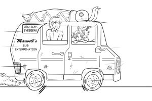 Brandon and the Roach Mobile by Parody-of-Eve
