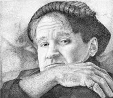 Robin Williams by kevindoyleart