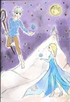 Jack and Elsa by allwellll
