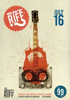 Mighty Riff promo poster by replicant