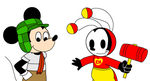Mickey and Oswald as Chavo and Chapulin Colorado by SuperMarcosLucky96