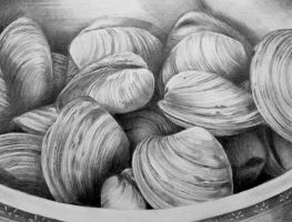 Graphite Clams by RubyRyn