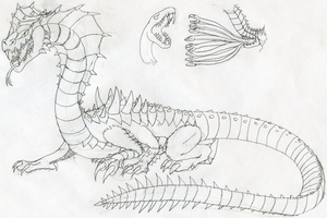 Ophiomega Concept Sketch by FiftyFootWhatever