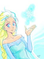 Tegaki Elsa by unconventionalsenshi