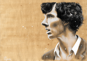 Sherlock in A Study in Pink by Annocent
