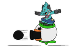 101214_0005: Clown Cannon by BuizelKnight