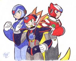 Rockman X doodle - DONE by KeroTrigger