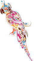 Colorful Parrot by artbeautifulcloth