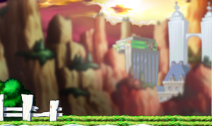   Maplestory Background  The Mountains   by InspirationalMonster