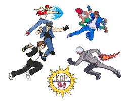 King Of Fighters 20th Anniversary Collab by Twardz