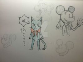 Fairy Tail/ Mickey Mouse doodles by ZombieMob