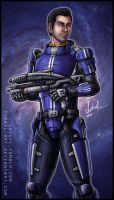 Mass Effect: Kaidan Alenko by Lukael-Art