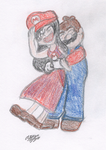 Request: Mario and Number1MarioFan247 by snowcloud8